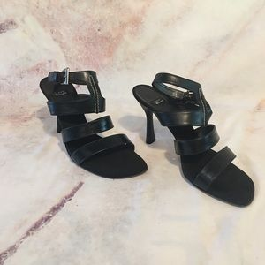 EUC Stuart Weitzman Strappy Black Sandals